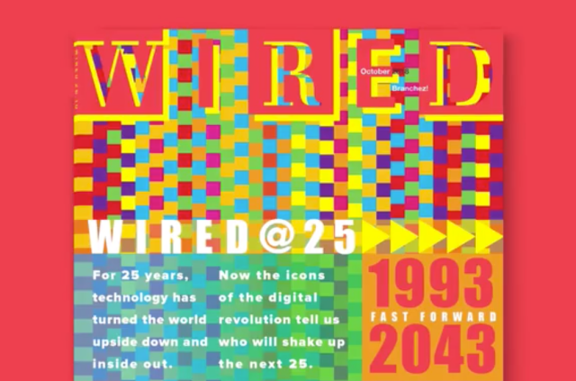 A photo of WIRED magazine