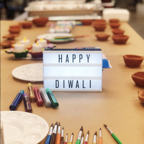 An image that says Happy Diwali