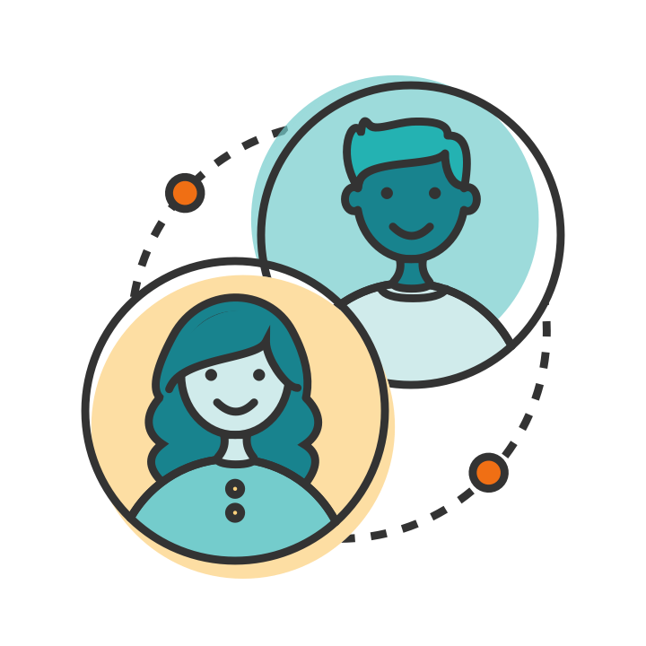 Tala referral graphic of two people's heads